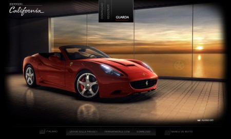 The Ferrari California website has been launched last June, and it has been