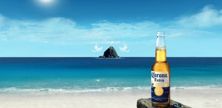 Coronas at the beach