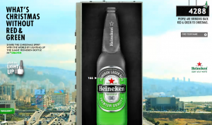 Giant Heineken bottle