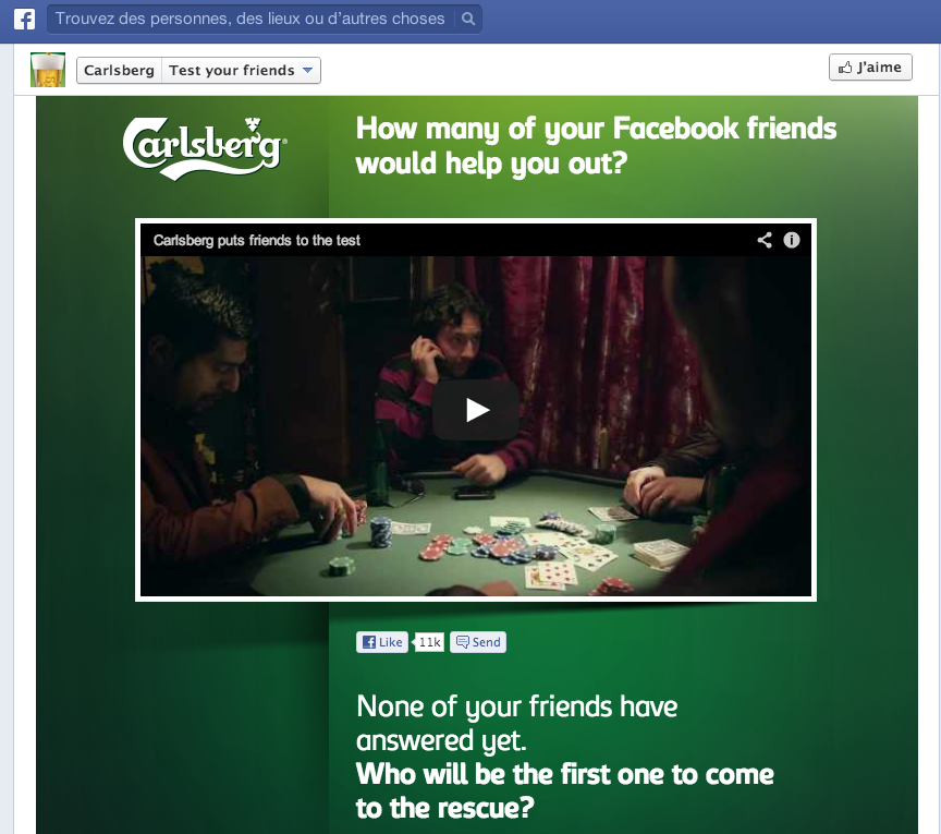 Carlsberg FB test
