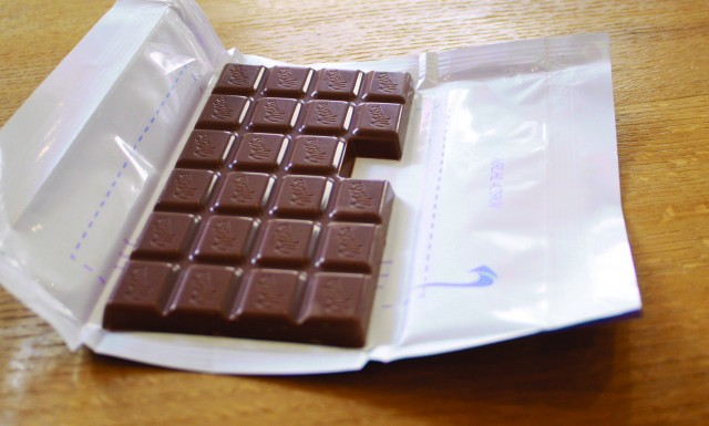 milka gives it last chocolate square