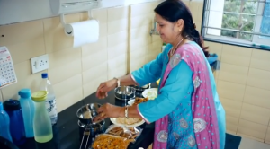 Indian Mother prepares her son's favourite meal